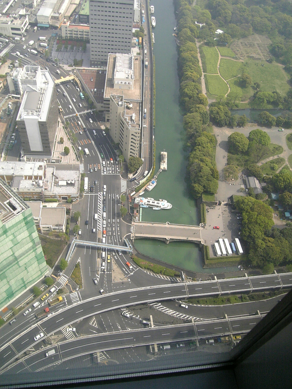 View down from the 46th floor