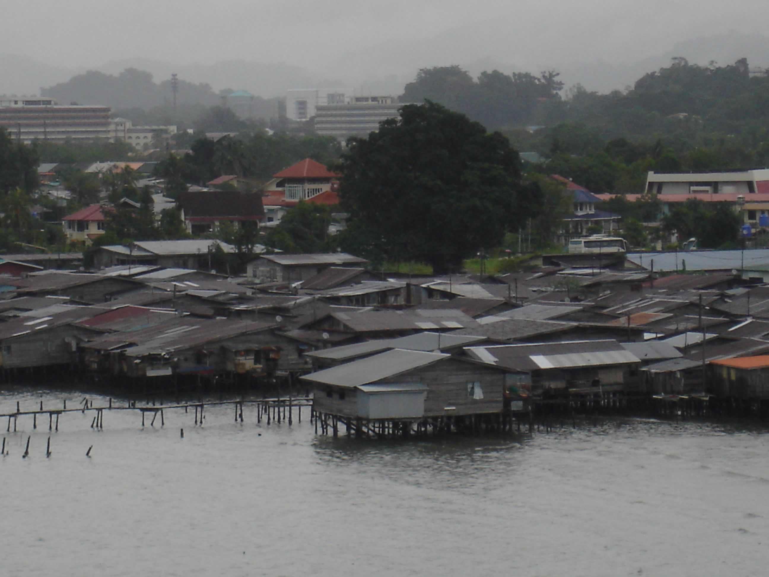 Water Village in Borneo