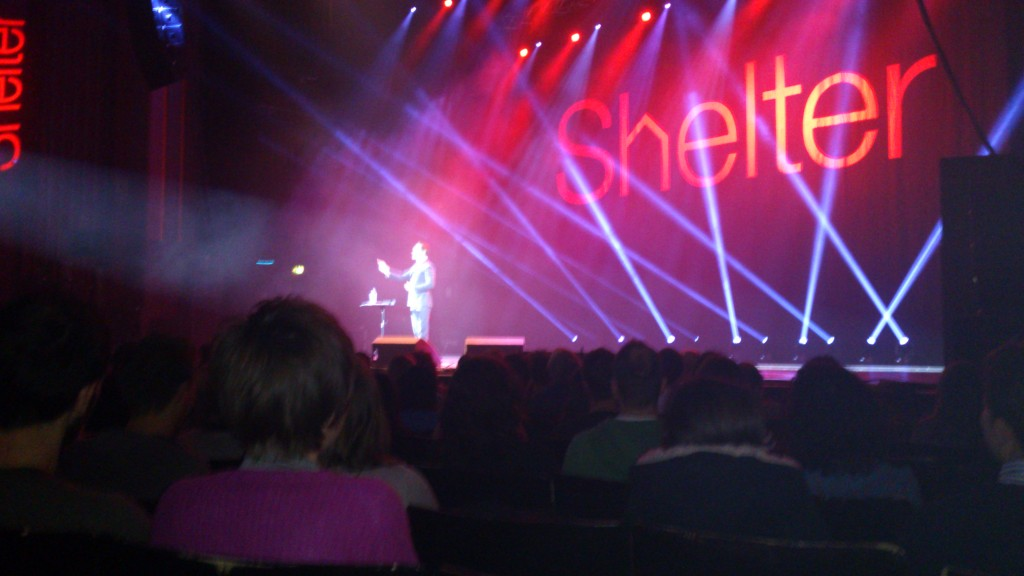 Jimmy Carr at the Hammersmith Apollo for Stand Up For Shelter
