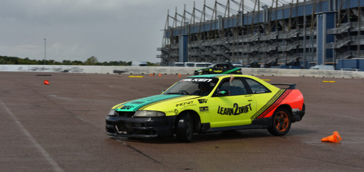 Drifting at Rockingham